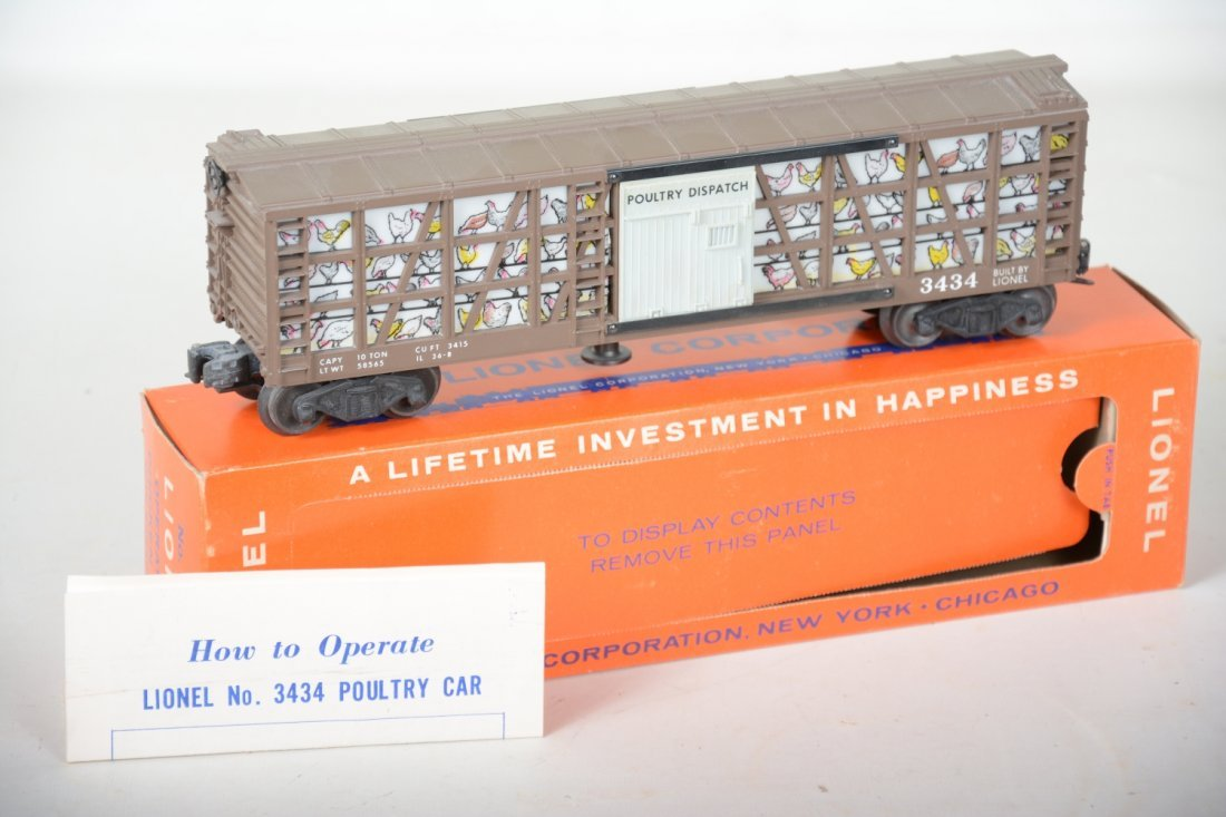 LN Boxed Lionel 3434 Operating Poultry Car