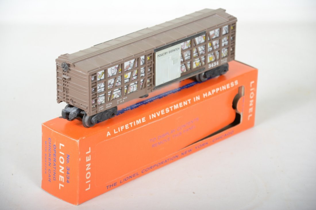 LN Boxed Lionel 3434 Operating Poultry Car - 2