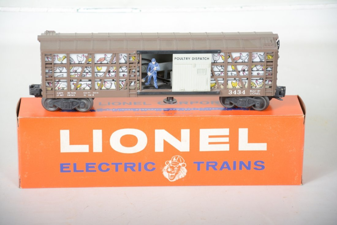 LN Boxed Lionel 3434 Operating Poultry Car - 3
