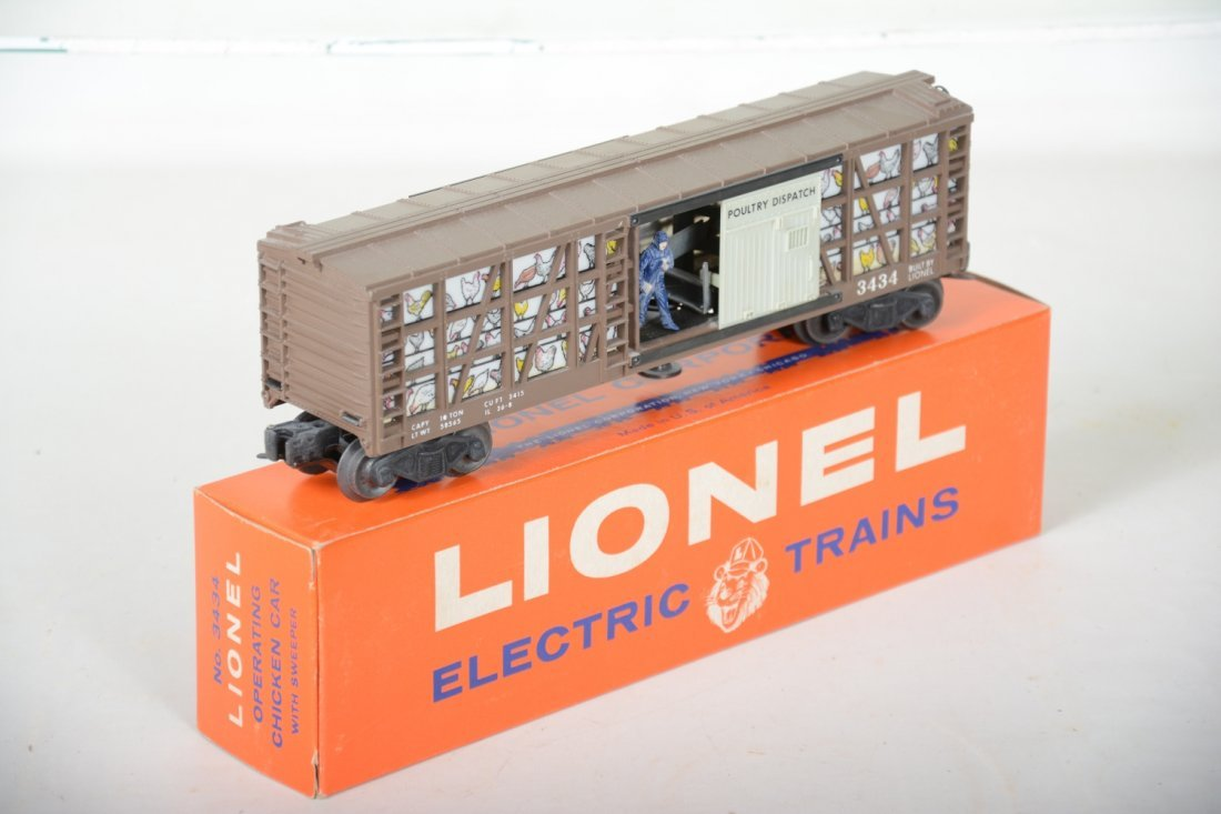 LN Boxed Lionel 3434 Operating Poultry Car - 4