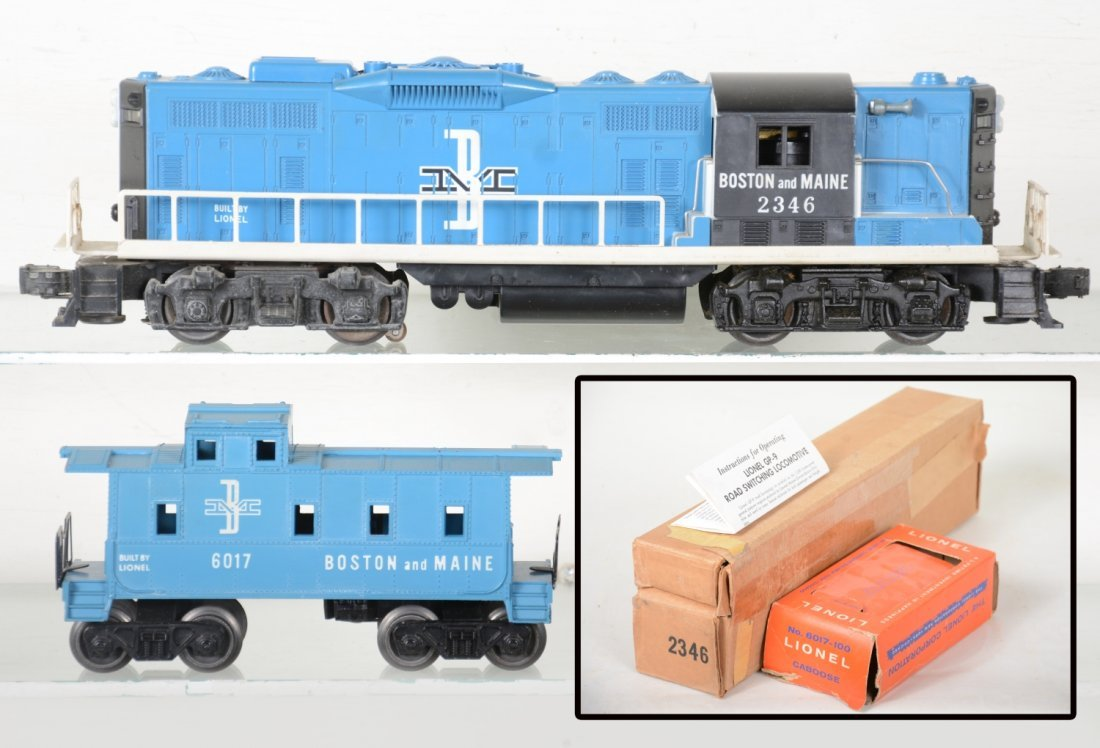 Nice Boxed Lionel 2346 B&M GP9 & Caboose