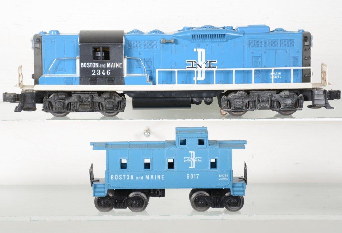 Nice Boxed Lionel 2346 B&M GP9 & Caboose - 2