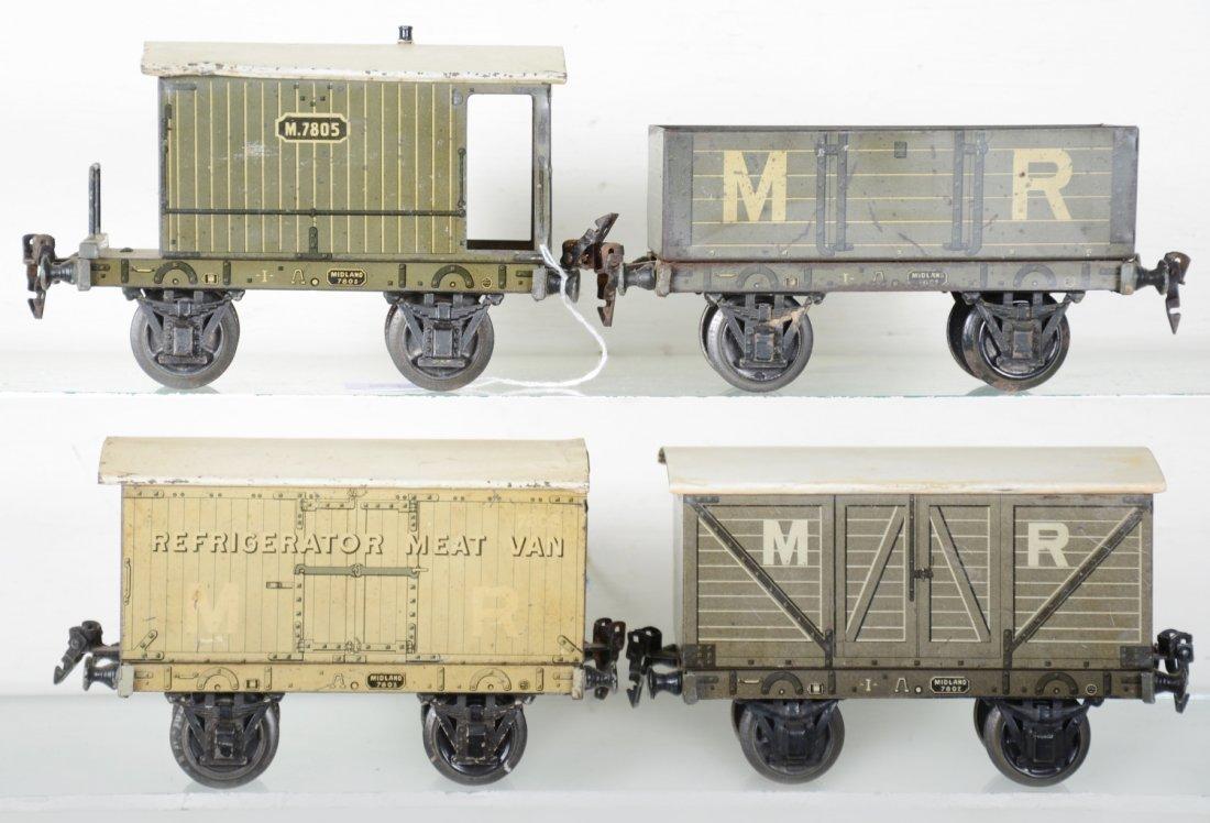 4 Marklin 20cm English Style Freight Cars - 2