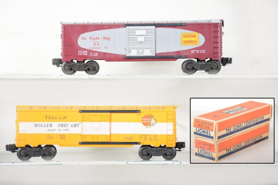 2 LN Boxed Lionel 6464 Boxcars