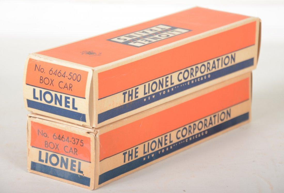 2 LN Boxed Lionel 6464 Boxcars - 2