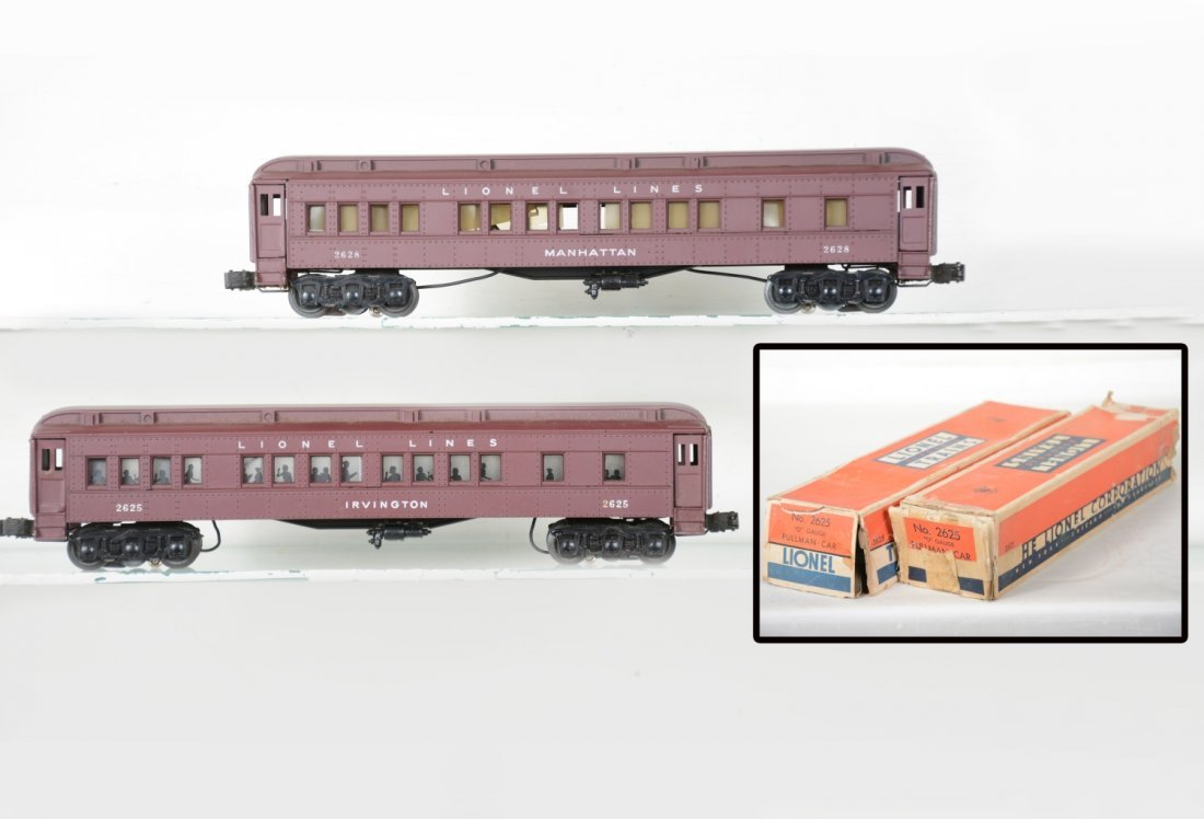 Lionel 2625 & 2628 Madison Cars, 2 Boxes