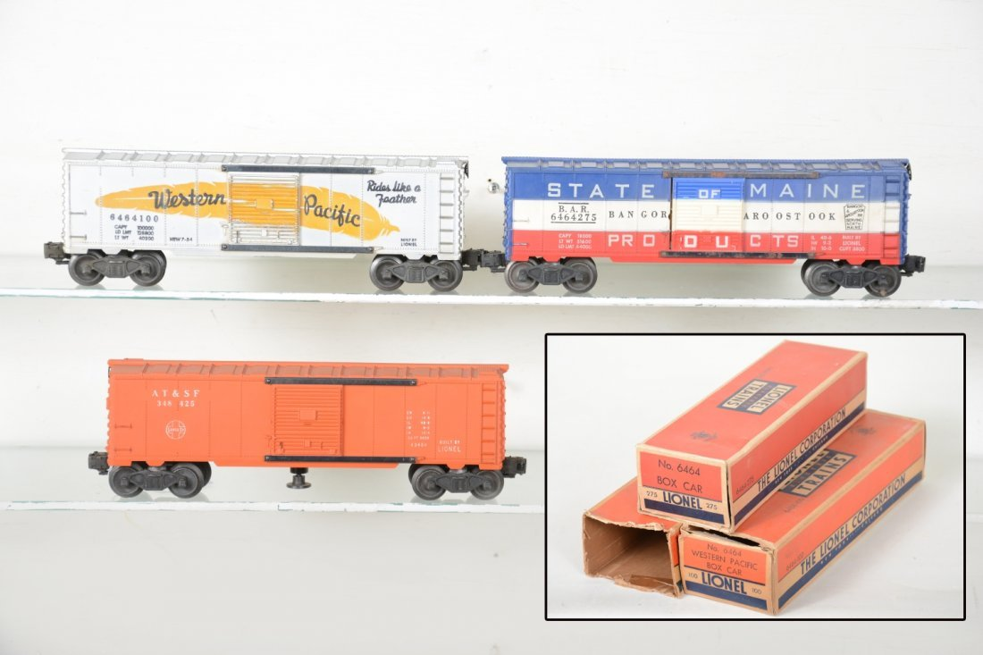 Boxed Lionel Boxcars