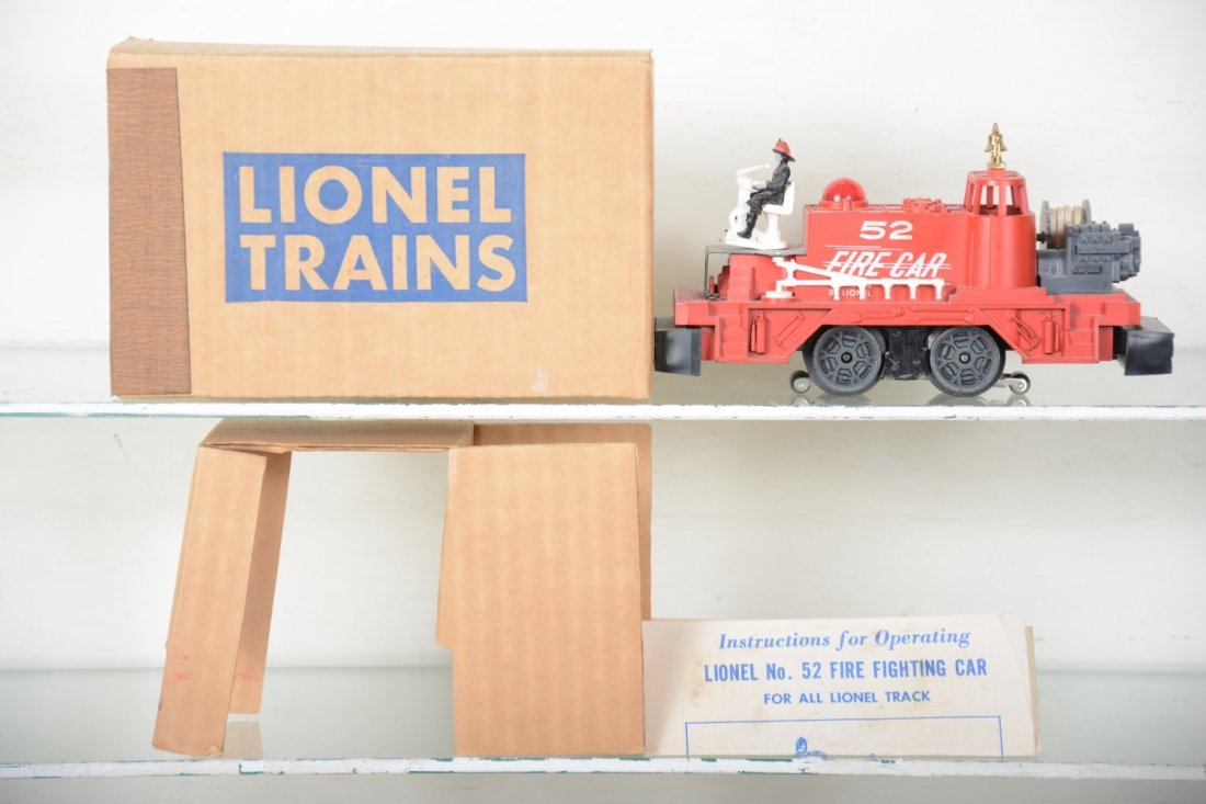 NMINT Boxed Lionel 52 Fire Cars - 2