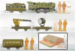 Scarce Boxed Marx Military Train Set