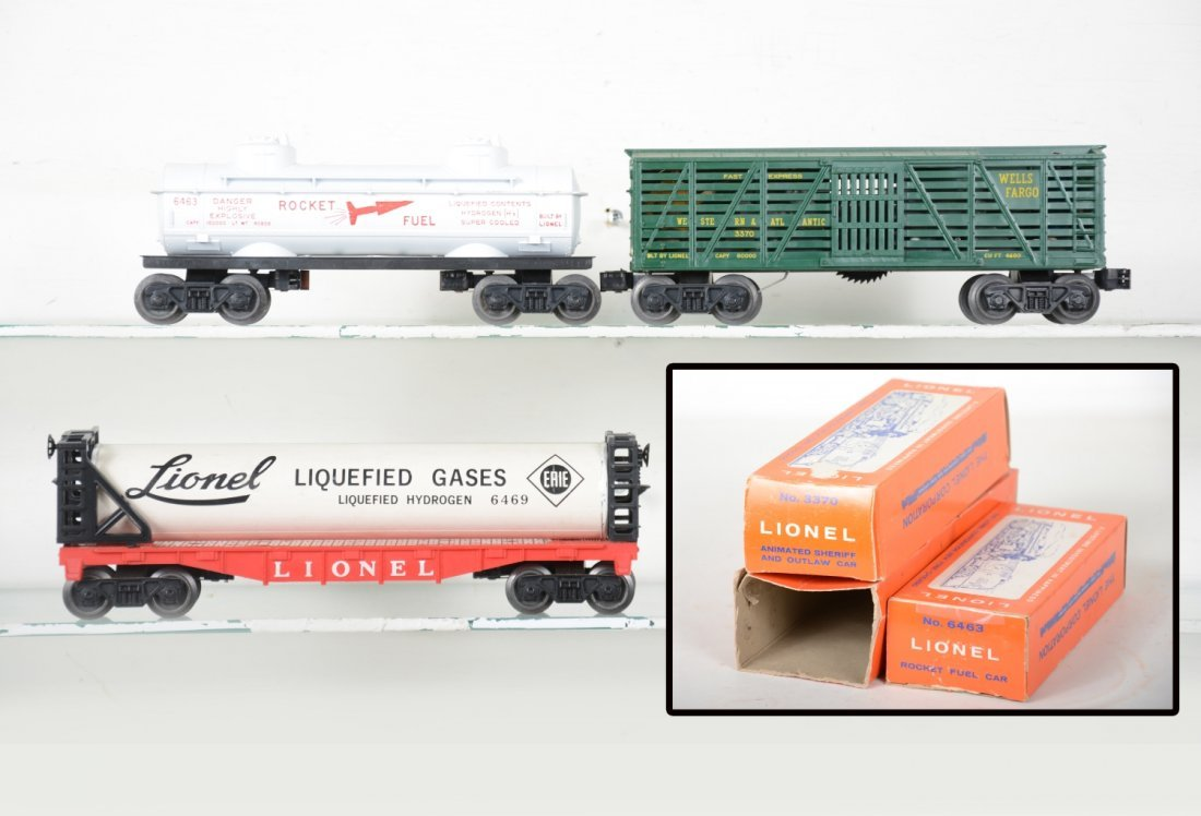 Boxed Lionel 3470, 6463 & 6469 Freight Cars