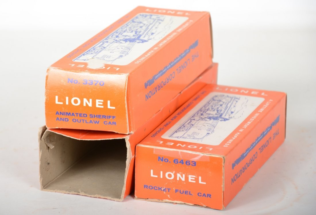 Boxed Lionel 3470, 6463 & 6469 Freight Cars - 2