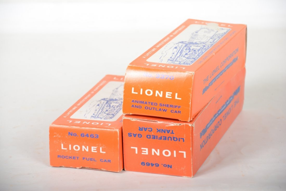 Boxed Lionel 3470, 6463 & 6469 Freight Cars - 4