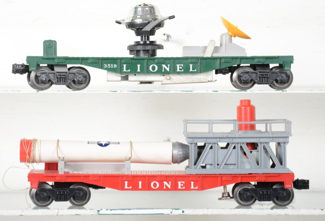 Boxed Lionel 3413 & 3519 Space Cars - 3