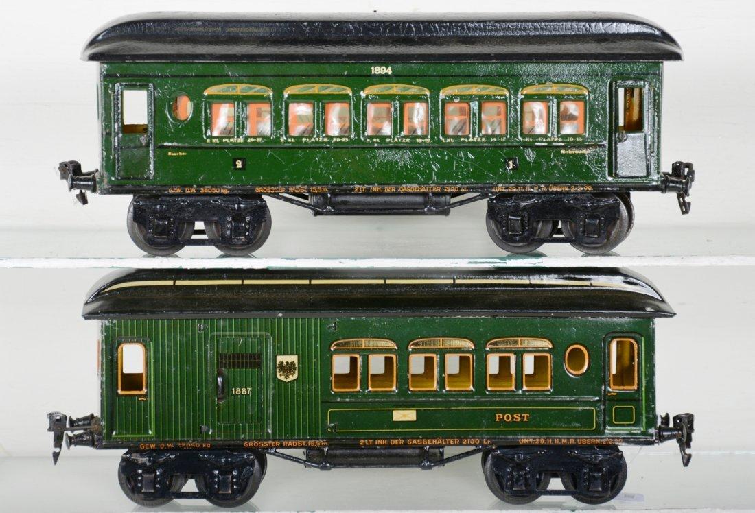Early Marklin 33cm Passenger Cars - 2