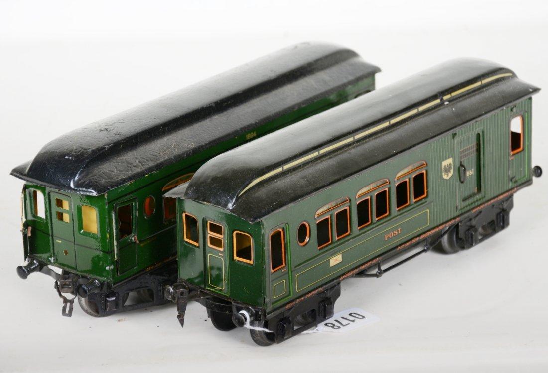 Early Marklin 33cm Passenger Cars - 4