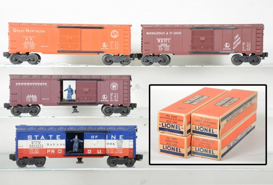 Boxed Lionel 6464 Style Boxcars
