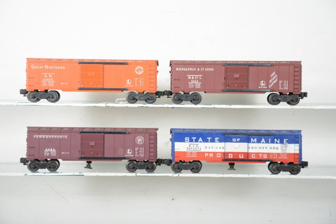 Boxed Lionel 6464 Style Boxcars - 2