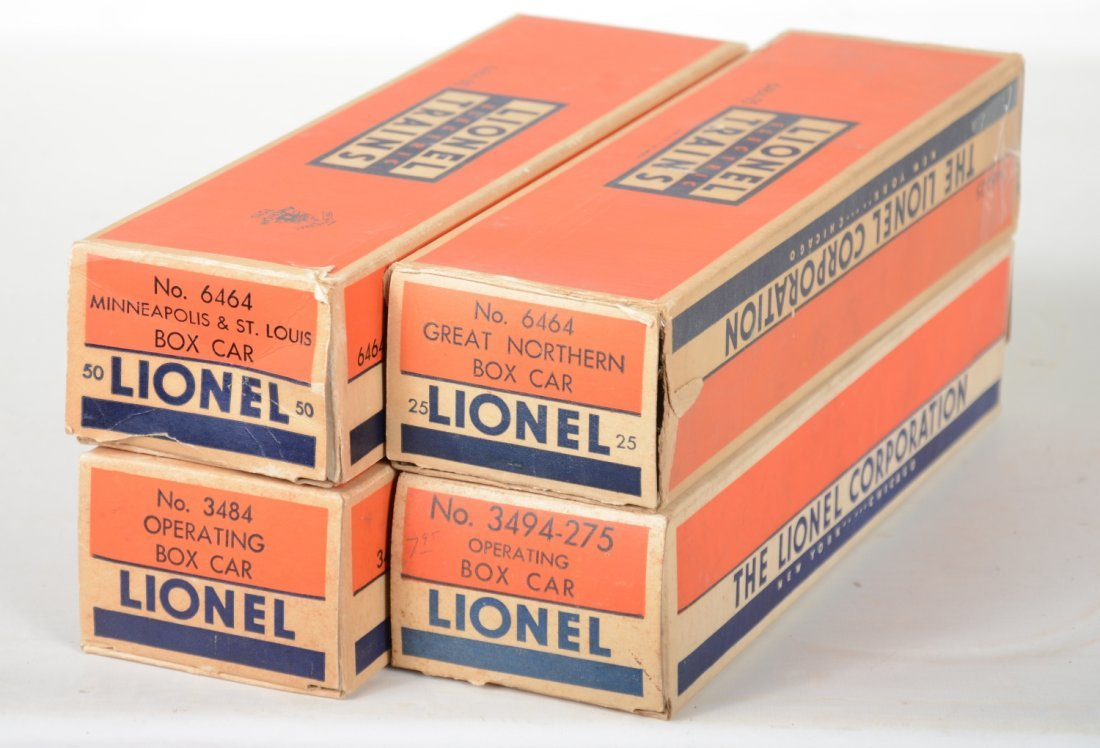 Boxed Lionel 6464 Style Boxcars - 3