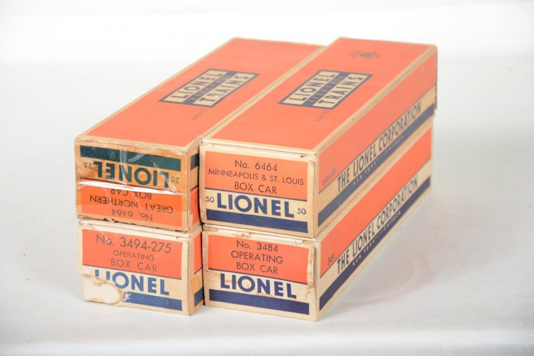 Boxed Lionel 6464 Style Boxcars - 4
