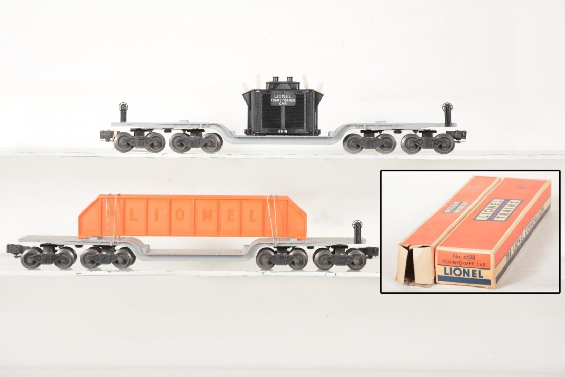 Clean Boxed Lionel 6518 & 6418 Flat Cars