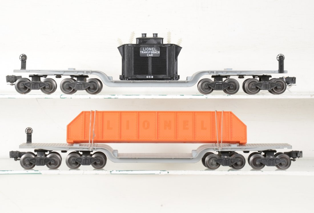 Clean Boxed Lionel 6518 & 6418 Flat Cars - 2