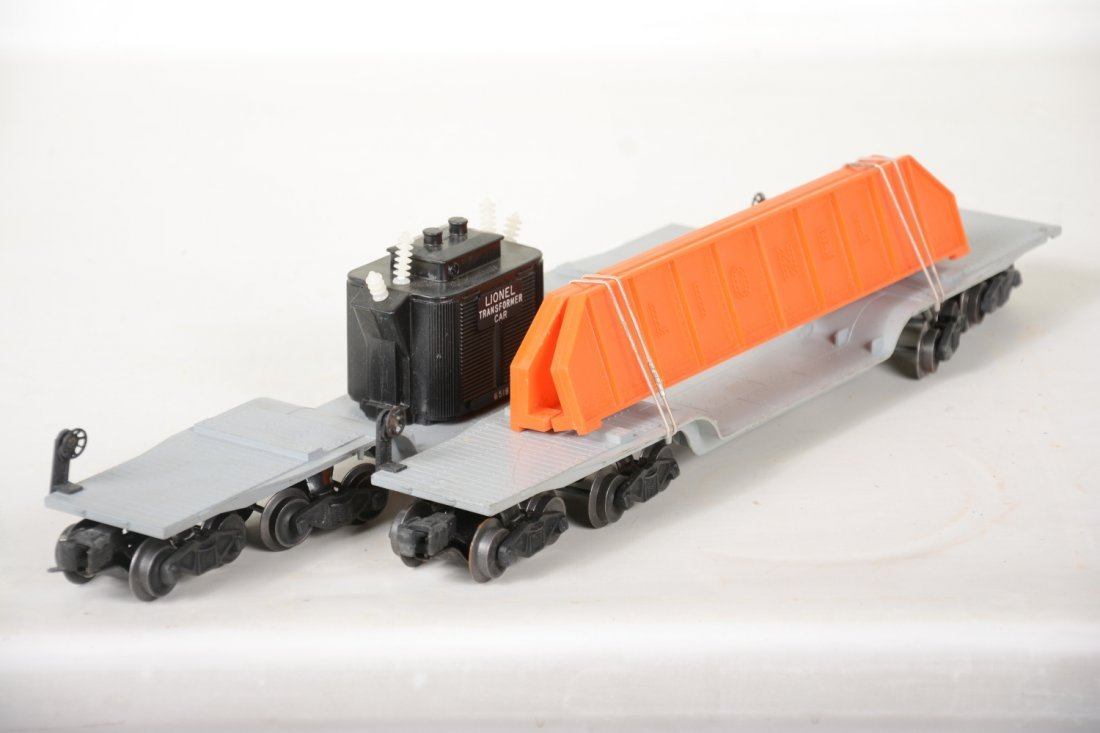 Clean Boxed Lionel 6518 & 6418 Flat Cars - 3