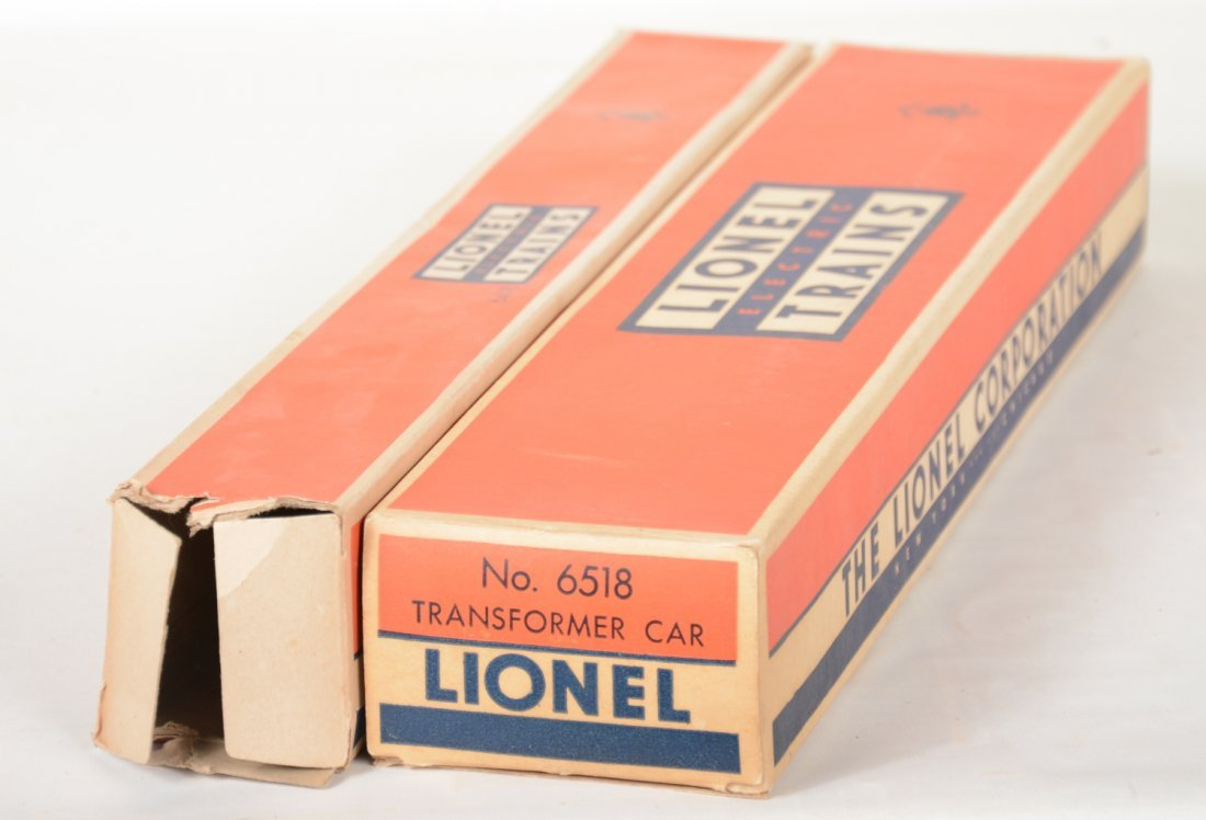 Clean Boxed Lionel 6518 & 6418 Flat Cars - 5