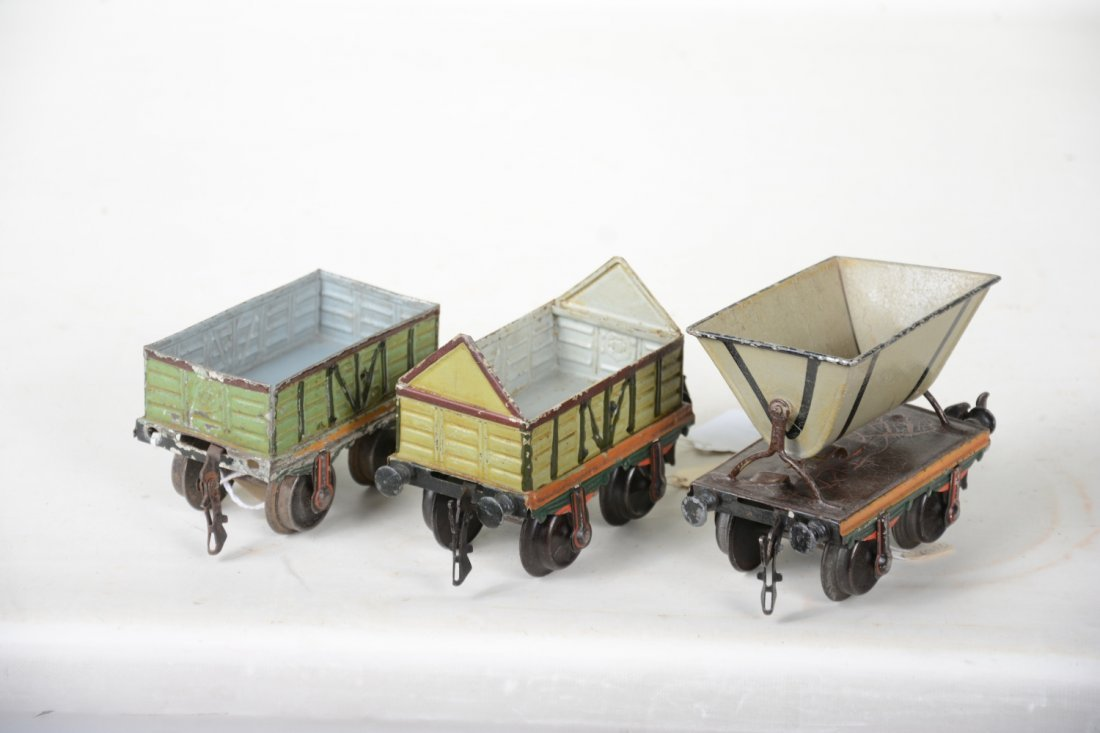 Early Hand-Painted Marklin 13cm Freight Cars - 3
