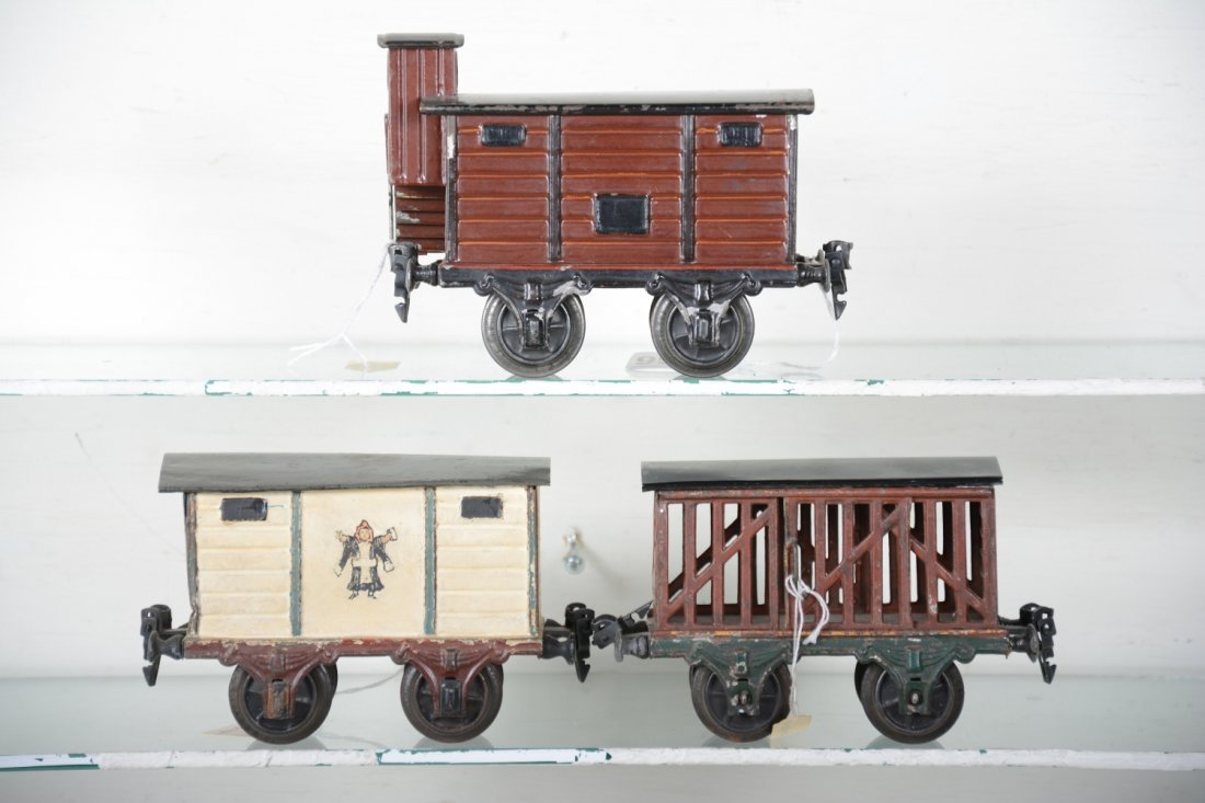 Early Marklin 15cm Painted Freight Cars
