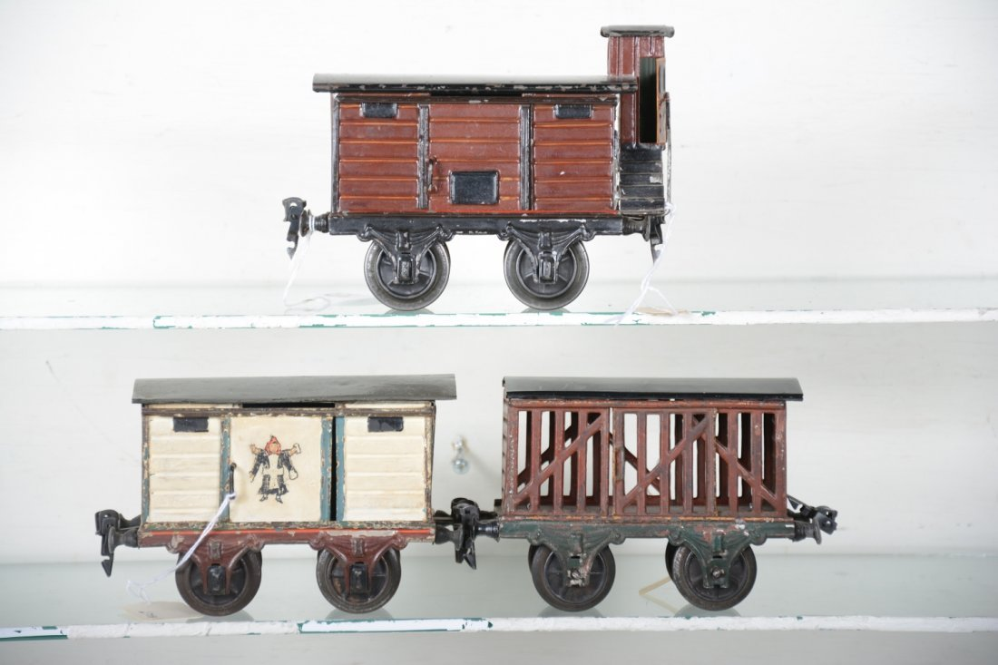 Early Marklin 15cm Painted Freight Cars - 2