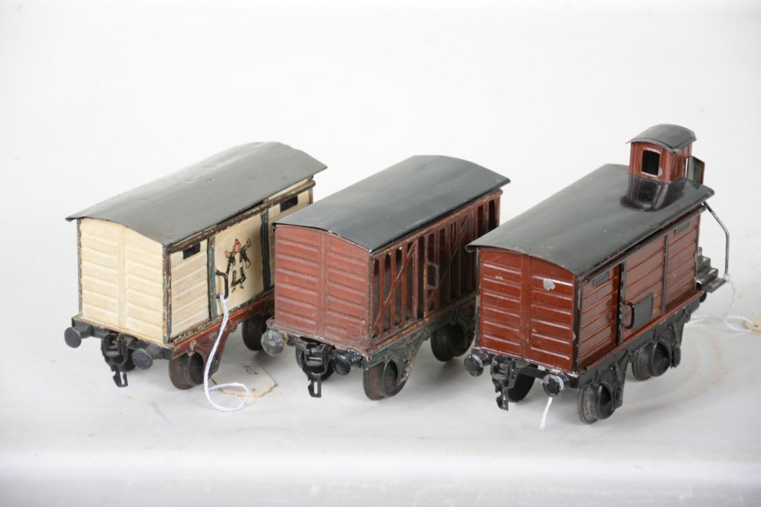 Early Marklin 15cm Painted Freight Cars - 3