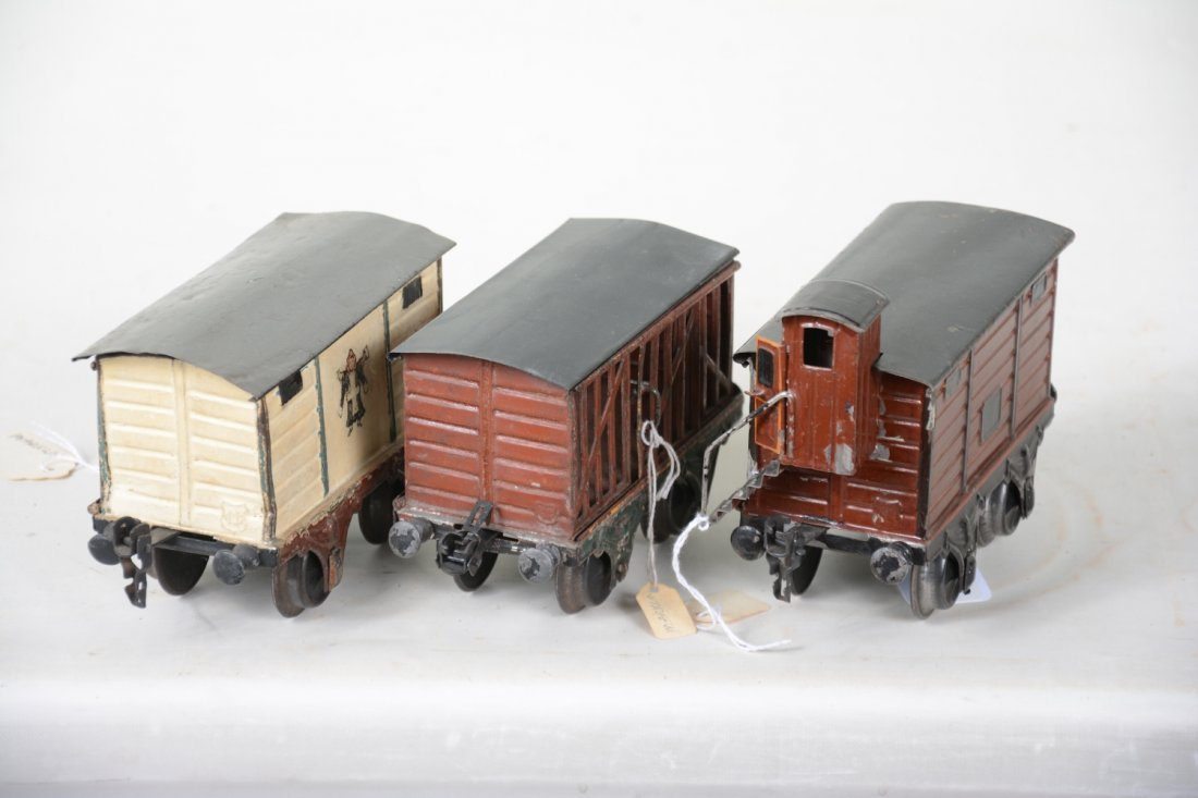 Early Marklin 15cm Painted Freight Cars - 4