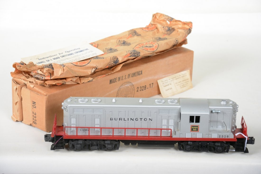 Super Boxed Lionel 2328 Burlington GP7 Diesel