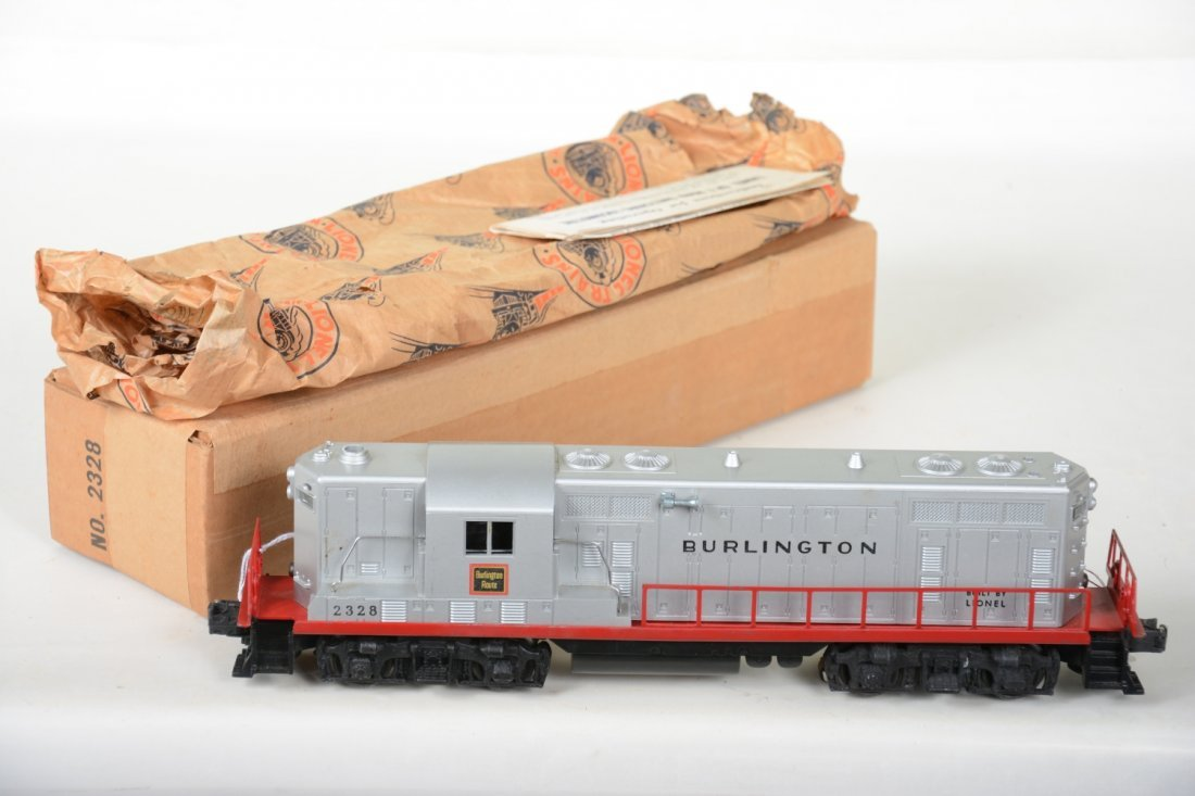 Super Boxed Lionel 2328 Burlington GP7 Diesel - 2