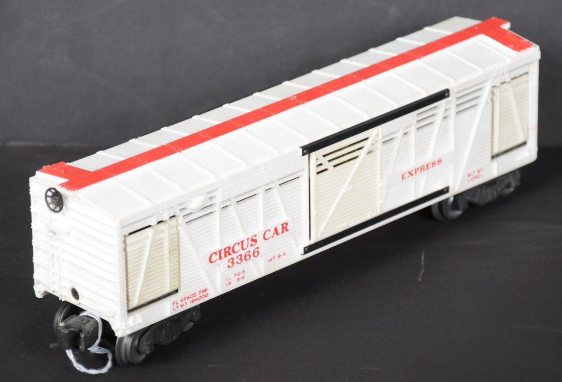 Scarce Boxed Lionel 3366 Operating Circus Car - 4