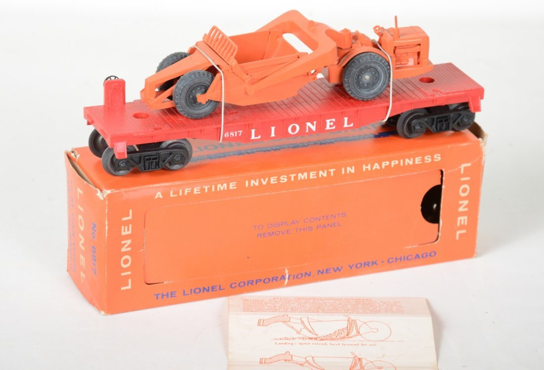Mint Boxed Lionel 6817 Flat with Scraper