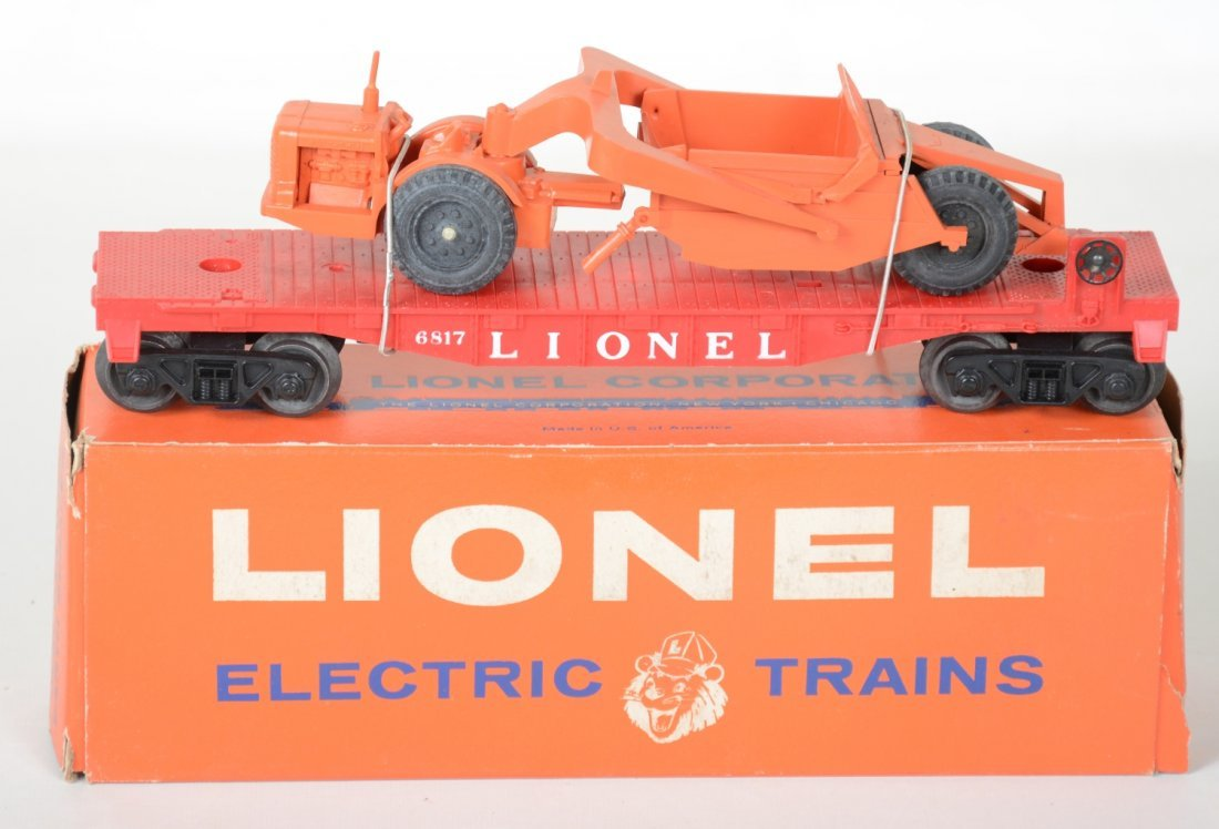 Mint Boxed Lionel 6817 Flat with Scraper - 2