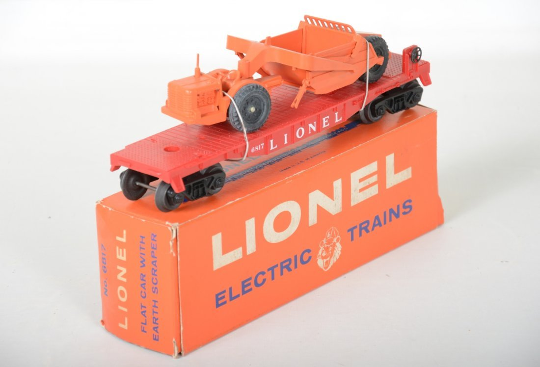 Mint Boxed Lionel 6817 Flat with Scraper - 3