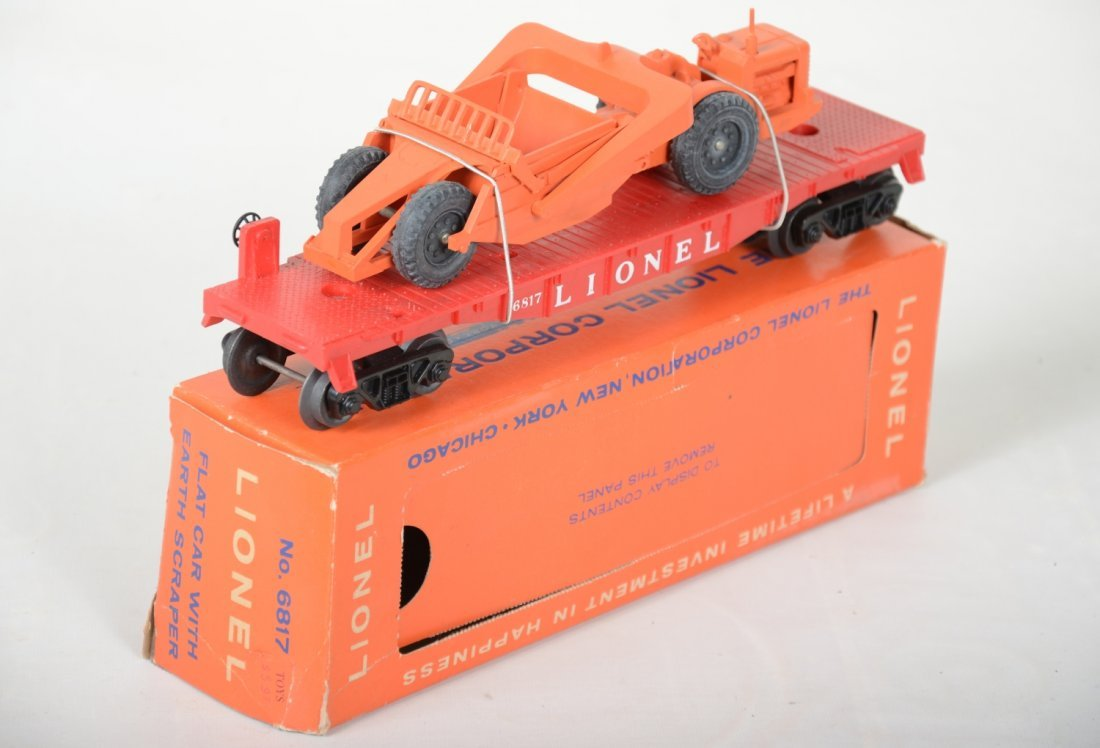 Mint Boxed Lionel 6817 Flat with Scraper - 4