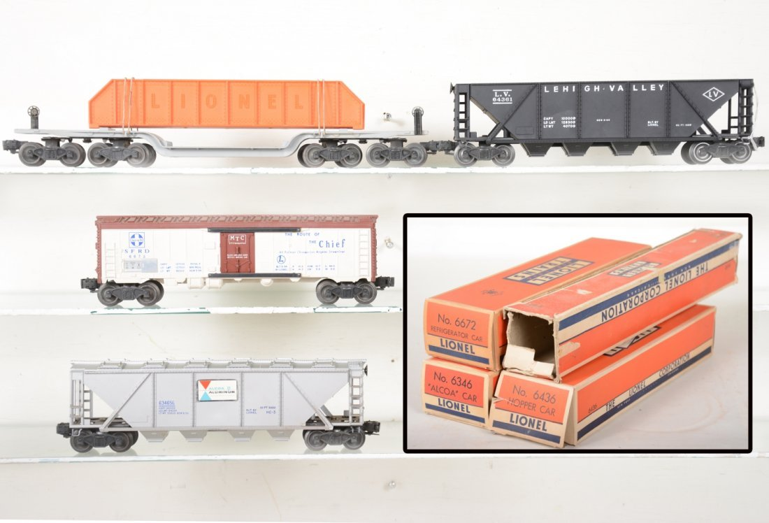 4 Boxed Lionel Freight Cars