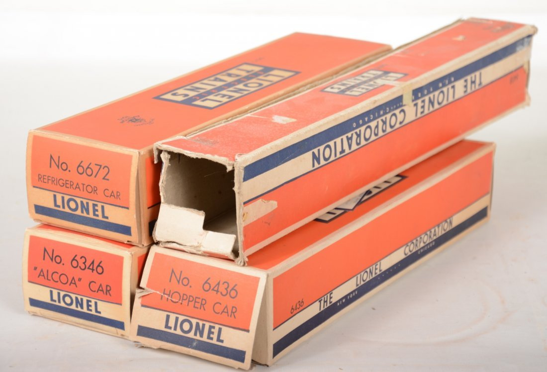 4 Boxed Lionel Freight Cars - 2