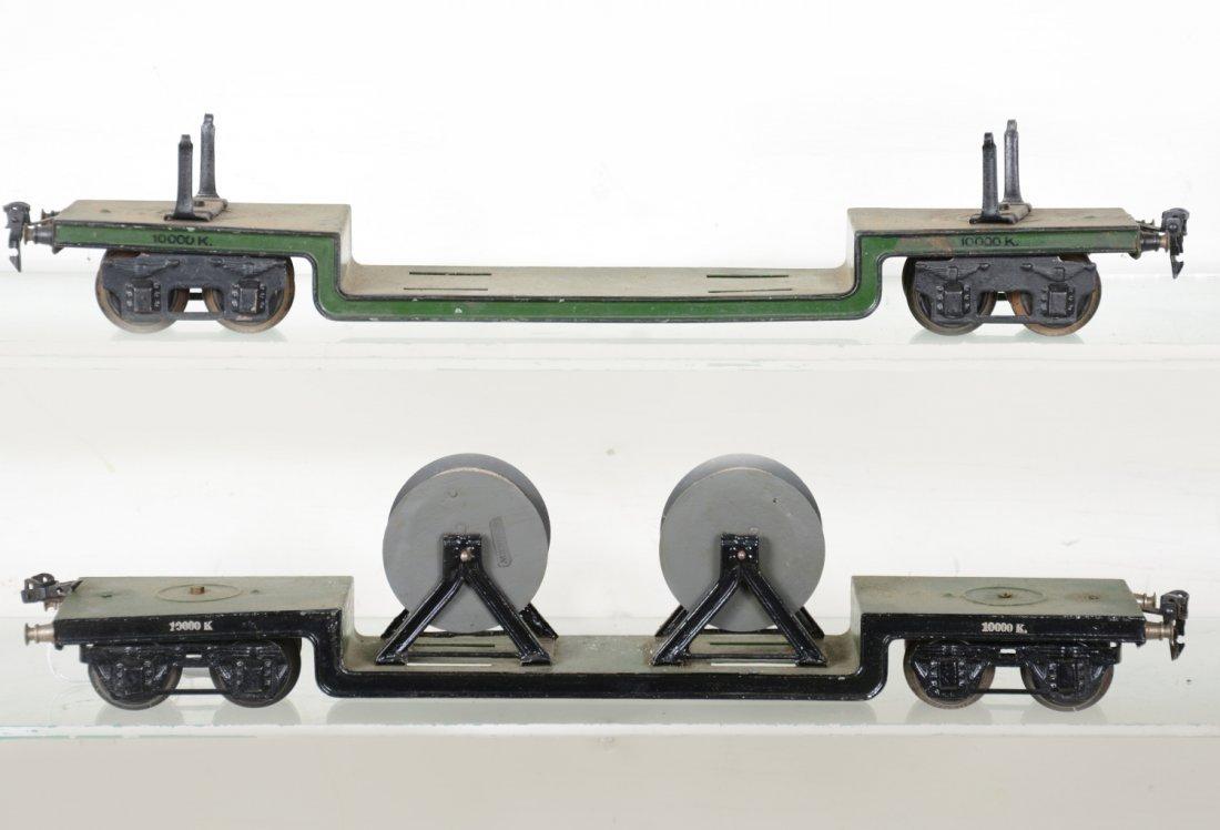 2 45cm Marklin 1955K/1 Low-Loaders - 2