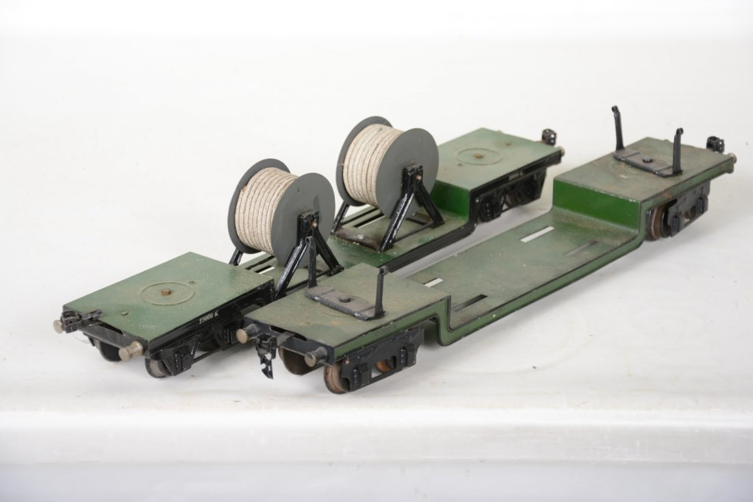 2 45cm Marklin 1955K/1 Low-Loaders - 3