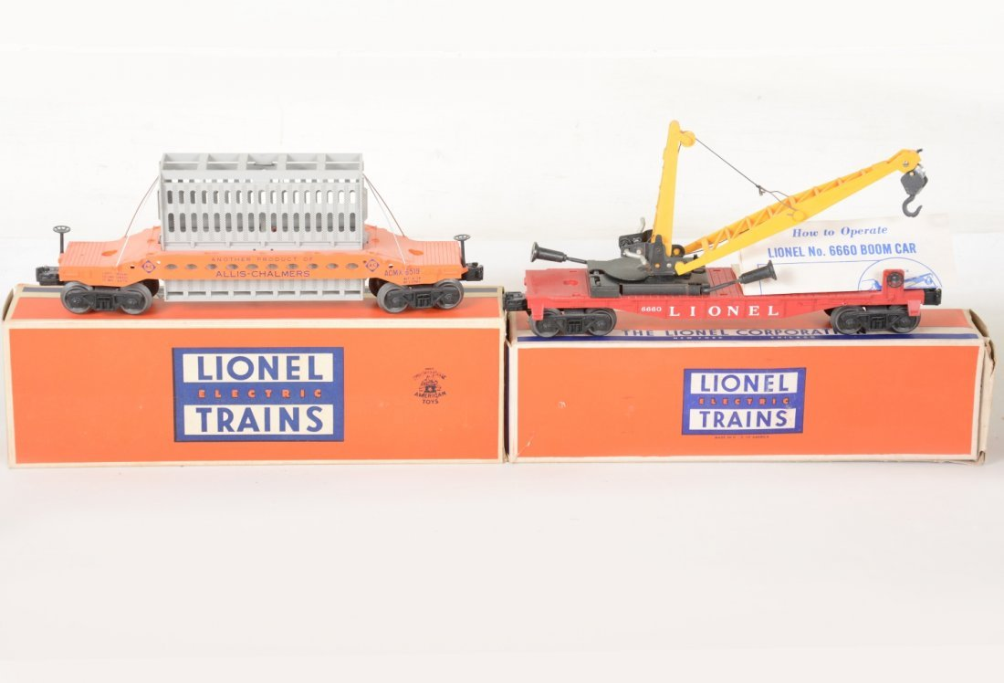 Nice Boxed Lionel 6519 & 6660 Freight Cars