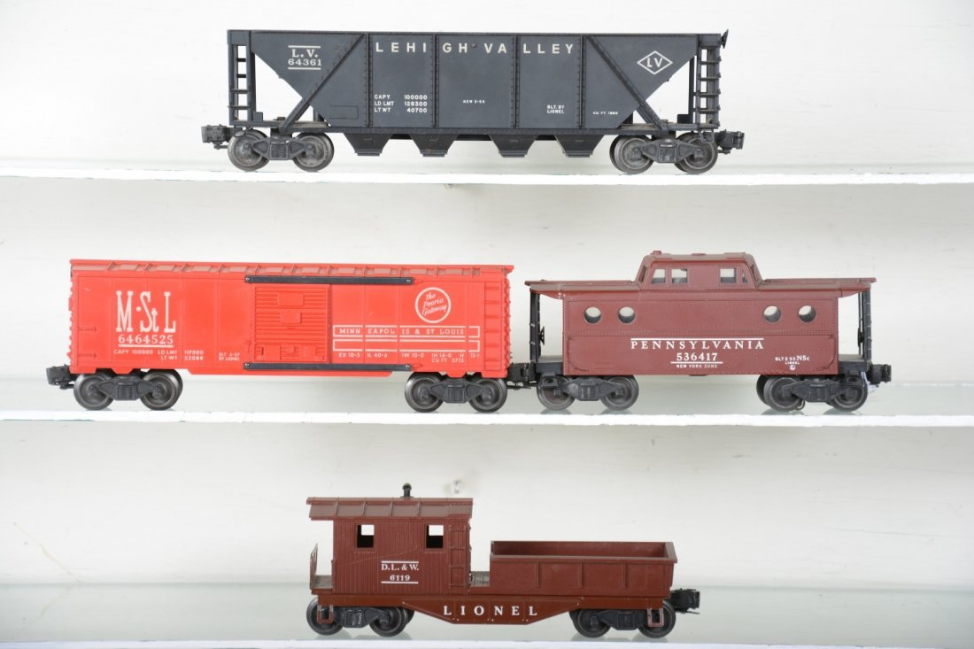 Boxed Lionel 6464-525, 6417, 6119-50 & 6436 Freights - 2