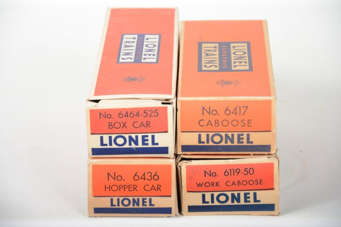 Boxed Lionel 6464-525, 6417, 6119-50 & 6436 Freights - 5