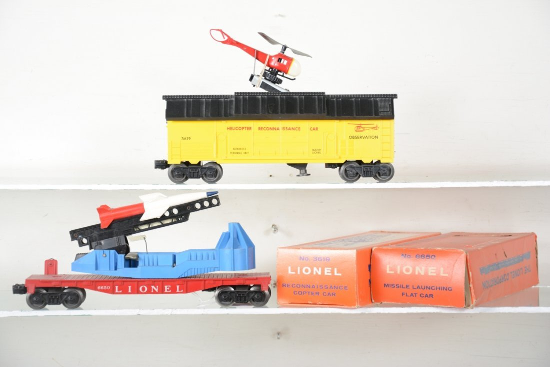Boxed Lionel 3619 & 6650 Space Cars - 2