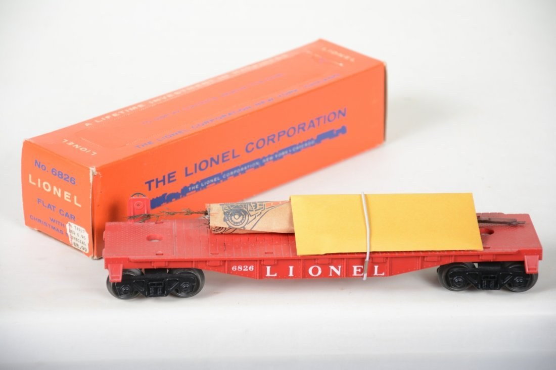 NMINT Boxed Lionel 6826 Flat With Christmas Trees