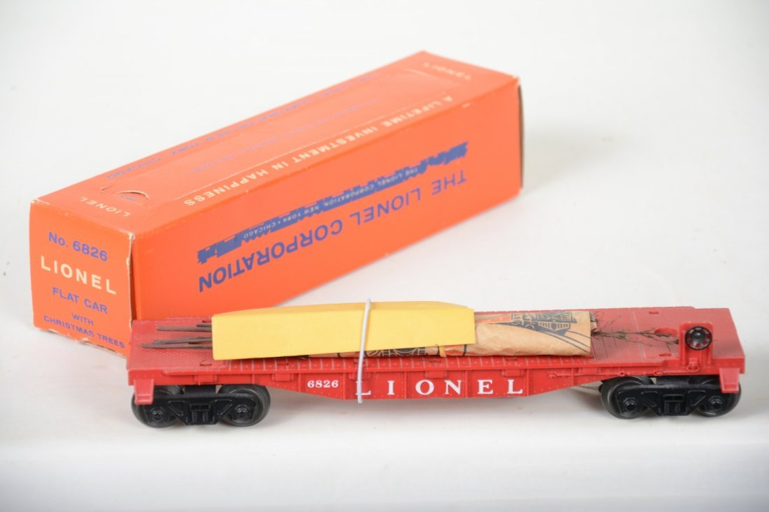 NMINT Boxed Lionel 6826 Flat With Christmas Trees - 2