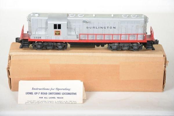 Boxed Lionel 2328 Burlington GP7 Diesel